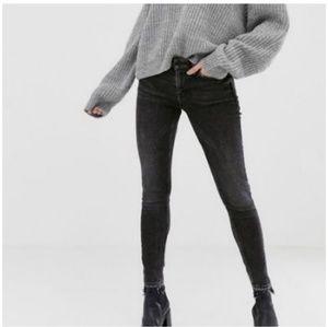 EUC All Saints mask low-rise skinny fit jeans